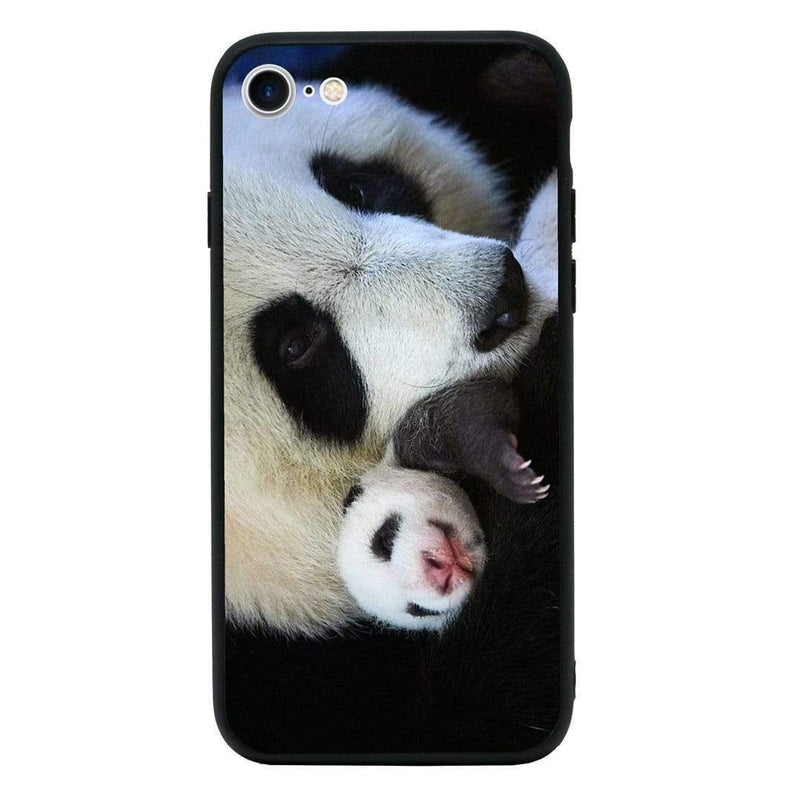 Glass Case Phone Cover for Apple iPhone 8 Plus / Panda Cub I-Choose Ltd