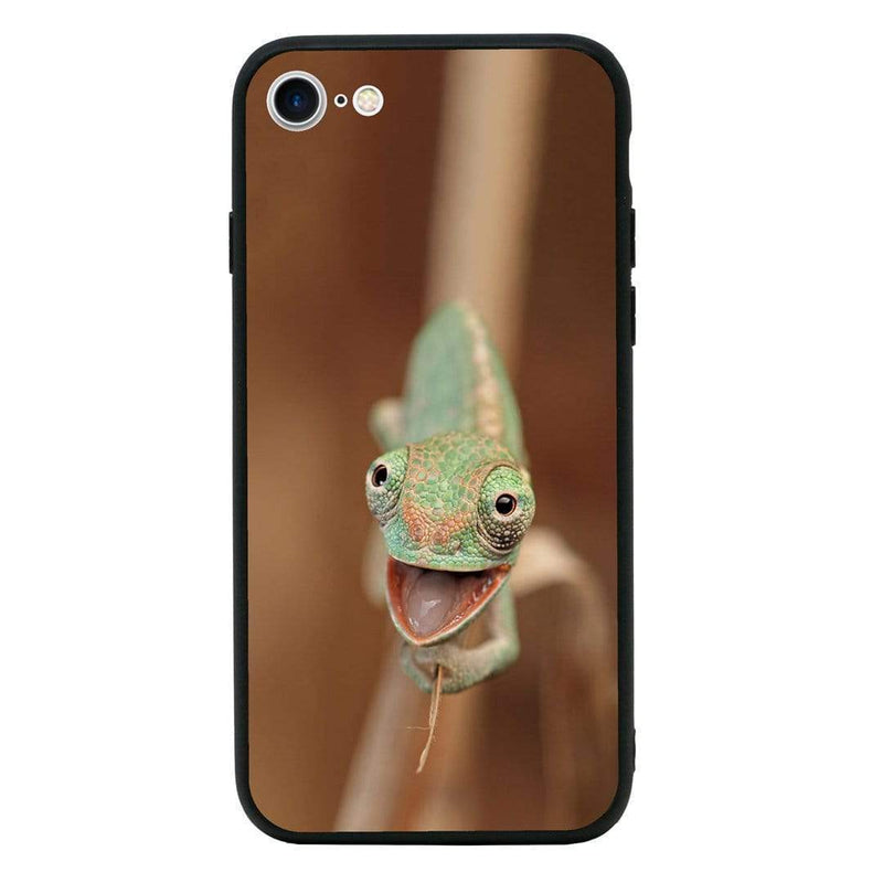 Glass Case Phone Cover for Apple iPhone 8 / Reptile I-Choose Ltd