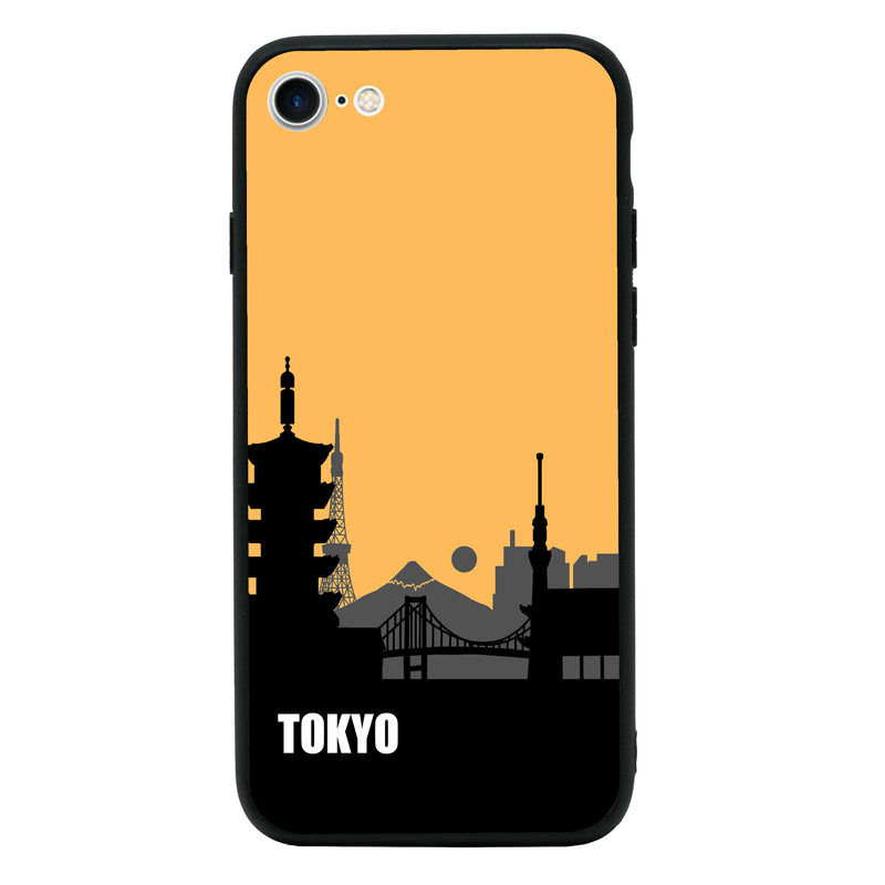 Glass Case Phone Cover for Apple iPhone 8 / Skyline I-Choose Ltd