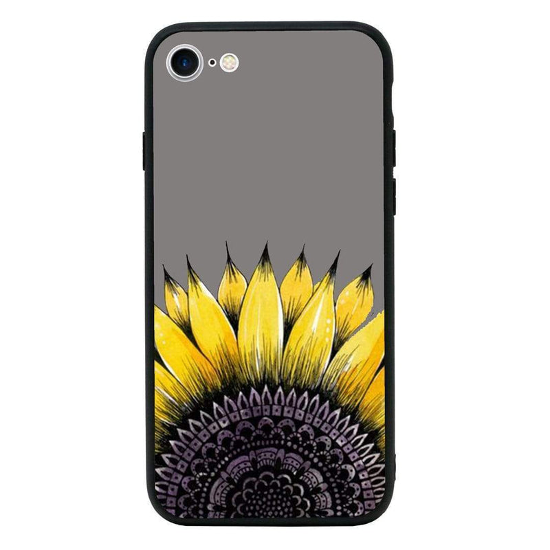 Glass Case Phone Cover for Apple iPhone 8 / Sunflower I-Choose Ltd