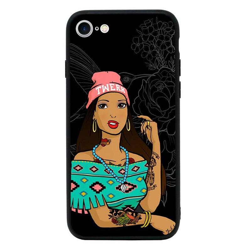 Glass Case Phone Cover for Apple iPhone 8 / Tattoo I-Choose Ltd