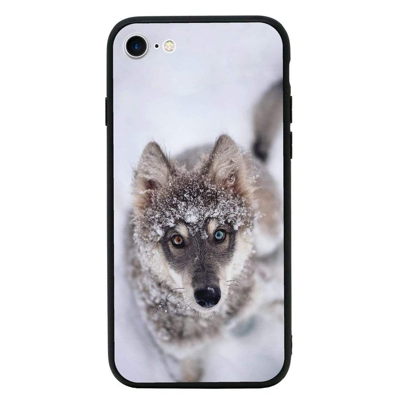 Glass Case Phone Cover for Apple iPhone 8 / Wolf I-Choose Ltd