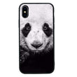 Glass Case Phone Cover for Apple iPhone X XS 10 / Black & White Panda I-Choose Ltd