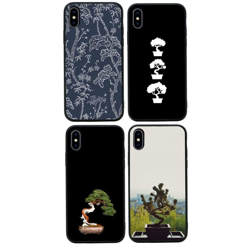 Glass Case Phone Cover for Apple iPhone X XS 10 / Bonsai Tree I-Choose Ltd