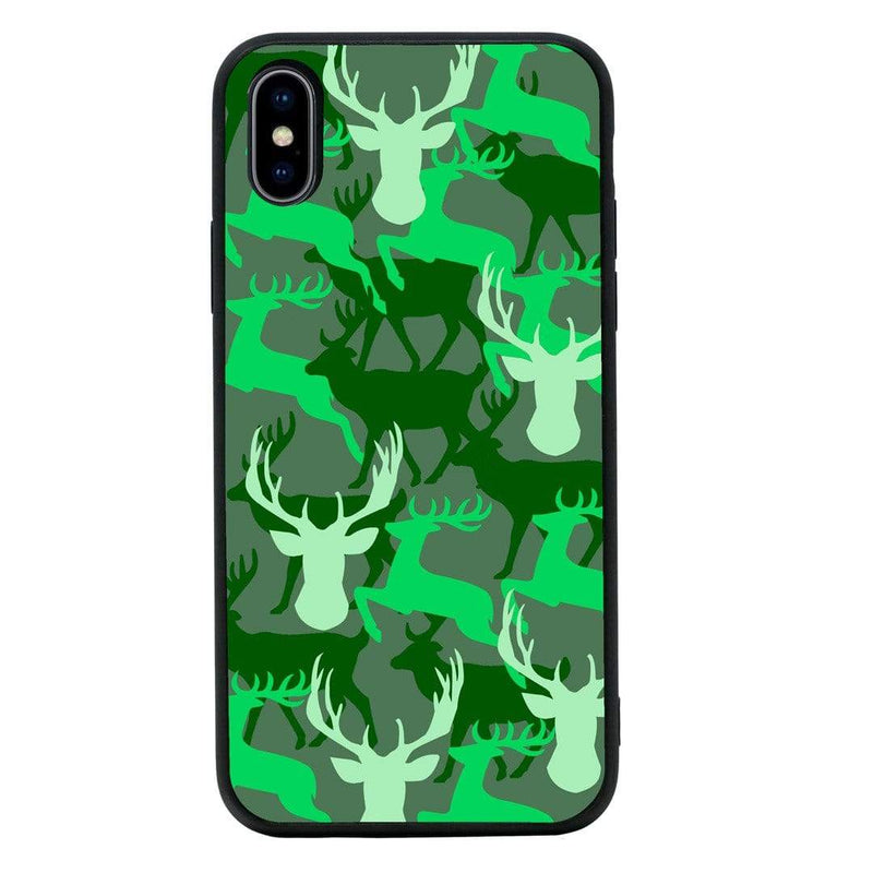 Glass Case Phone Cover for Apple iPhone X XS 10 / Camo Animals I-Choose Ltd