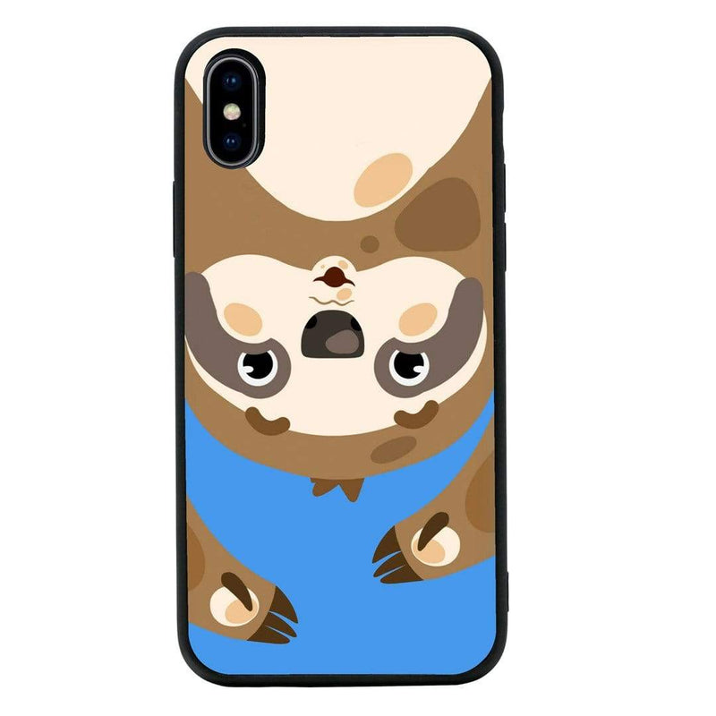 Glass Case Phone Cover for Apple iPhone X XS 10 / Funny Animal Quips I-Choose Ltd