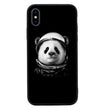 Glass Case Phone Cover for Apple iPhone XR / Black & White Panda I-Choose Ltd