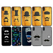 Glass Case Phone Cover for Apple iPhone XR / Moustache I-Choose Ltd