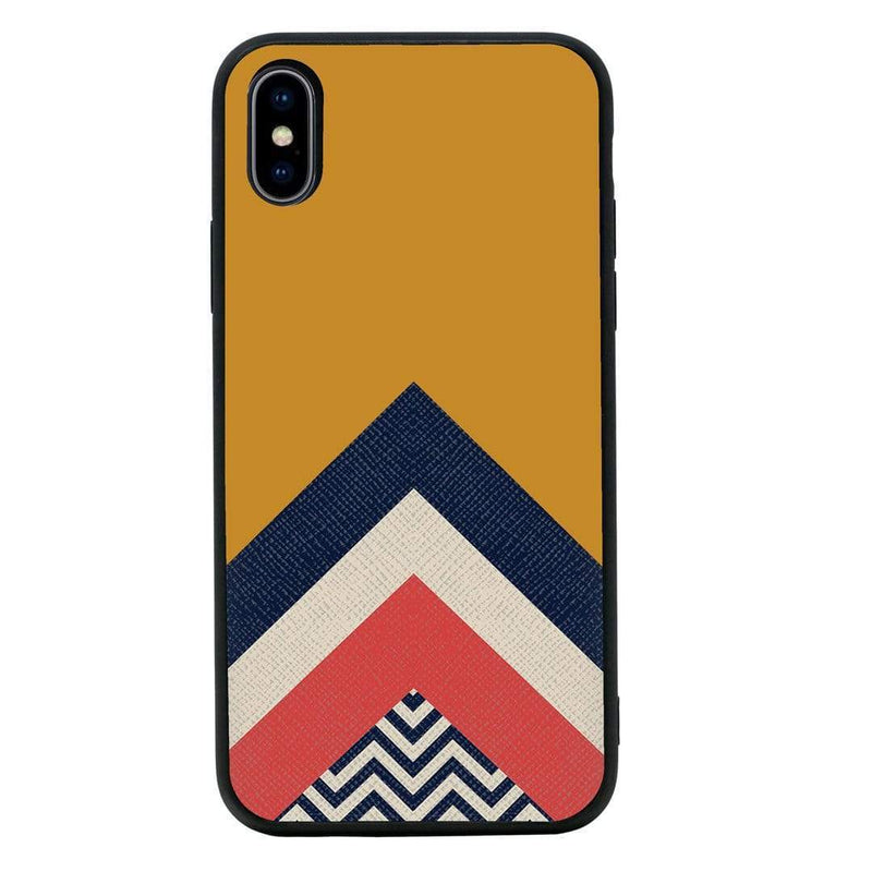 Glass Case Phone Cover for Apple iPhone XS Max / Chevron Block I-Choose Ltd