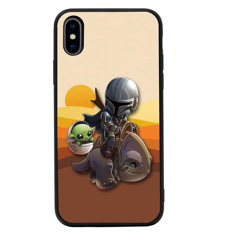 Glass Case Phone Cover for Apple iPhone XS Max / Mandalorian I-Choose Ltd
