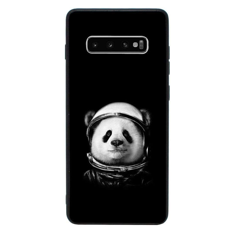 Glass Case Phone Cover for Samsung Galaxy S10 / Black & White Panda I-Choose Ltd