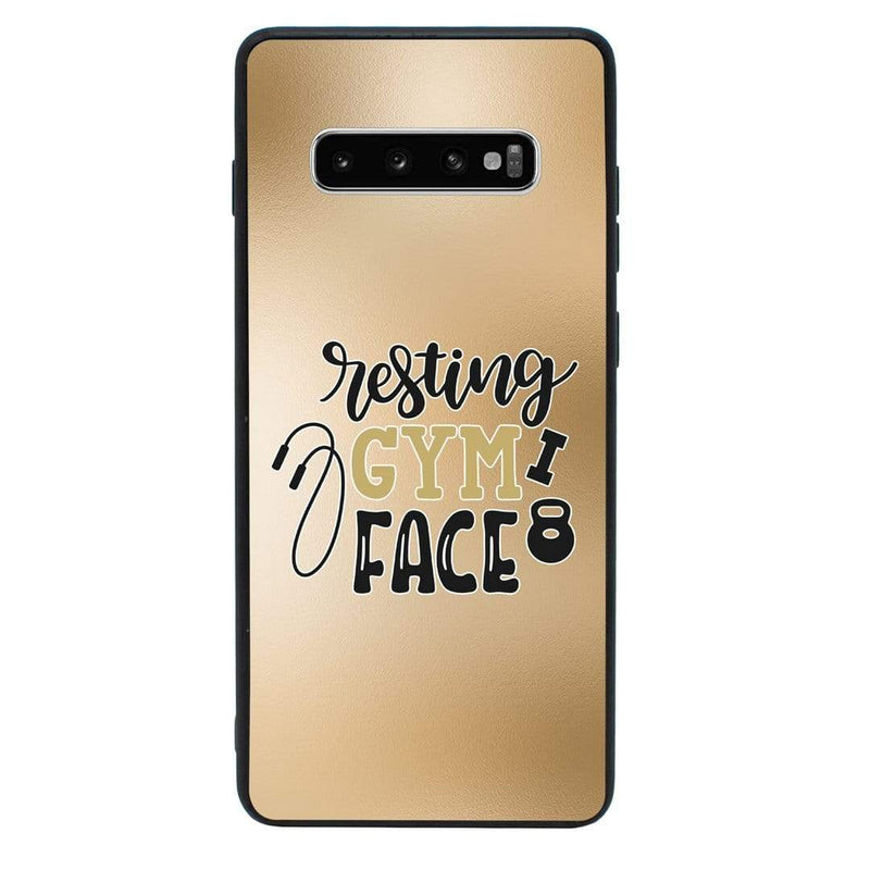 Glass Case Phone Cover for Samsung Galaxy S10 / Gym