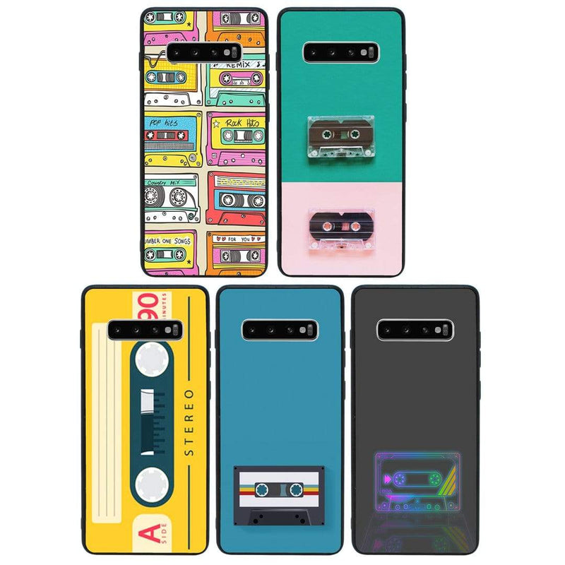 Glass Case Phone Cover for Samsung Galaxy S10 Plus / Cassette Tape I-Choose Ltd