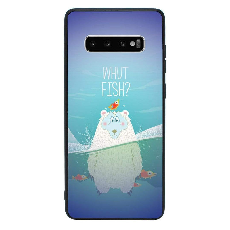 Glass Case Phone Cover for Samsung Galaxy S10 Plus / Funny Animal Quips I-Choose Ltd