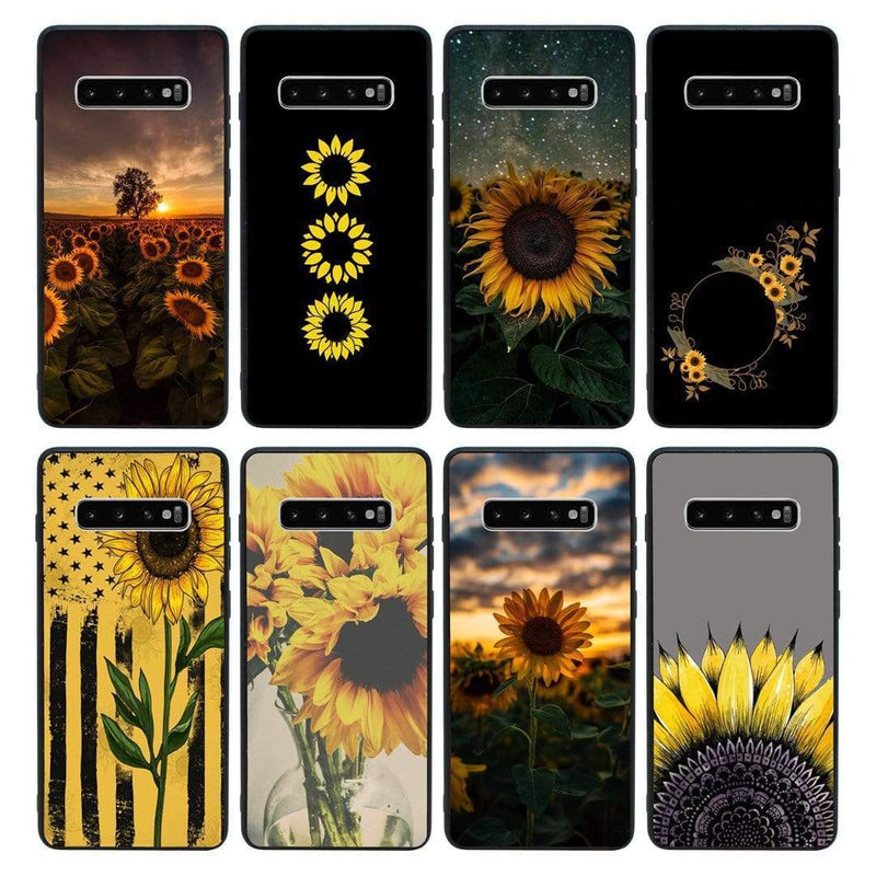Glass Case Phone Cover for Samsung Galaxy S10 Plus / Sunflower I-Choose Ltd