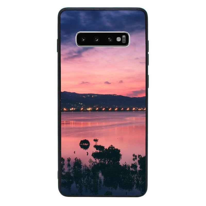 Glass Case Phone Cover for Samsung Galaxy S10 / Sunset I-Choose Ltd