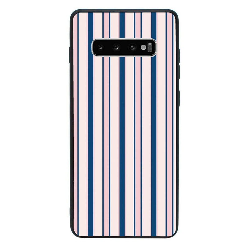 Glass Case Phone Cover for Samsung Galaxy S10 / Vertical Stripes I-Choose Ltd