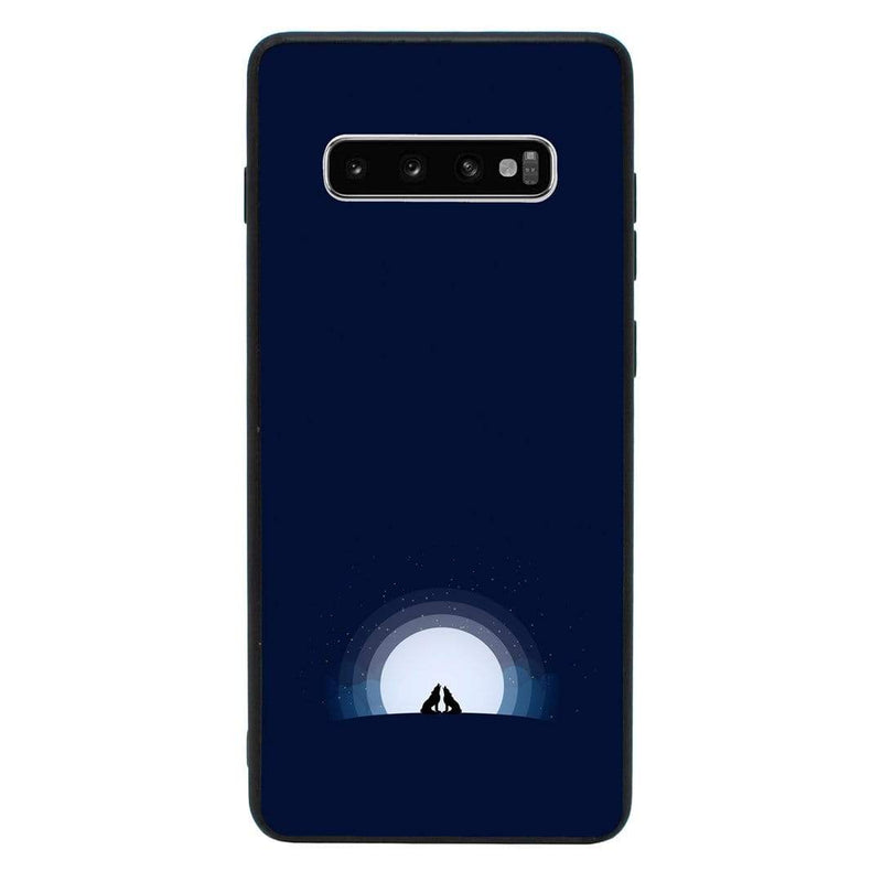 Glass Case Phone Cover for Samsung Galaxy S10 / Wolf I-Choose Ltd