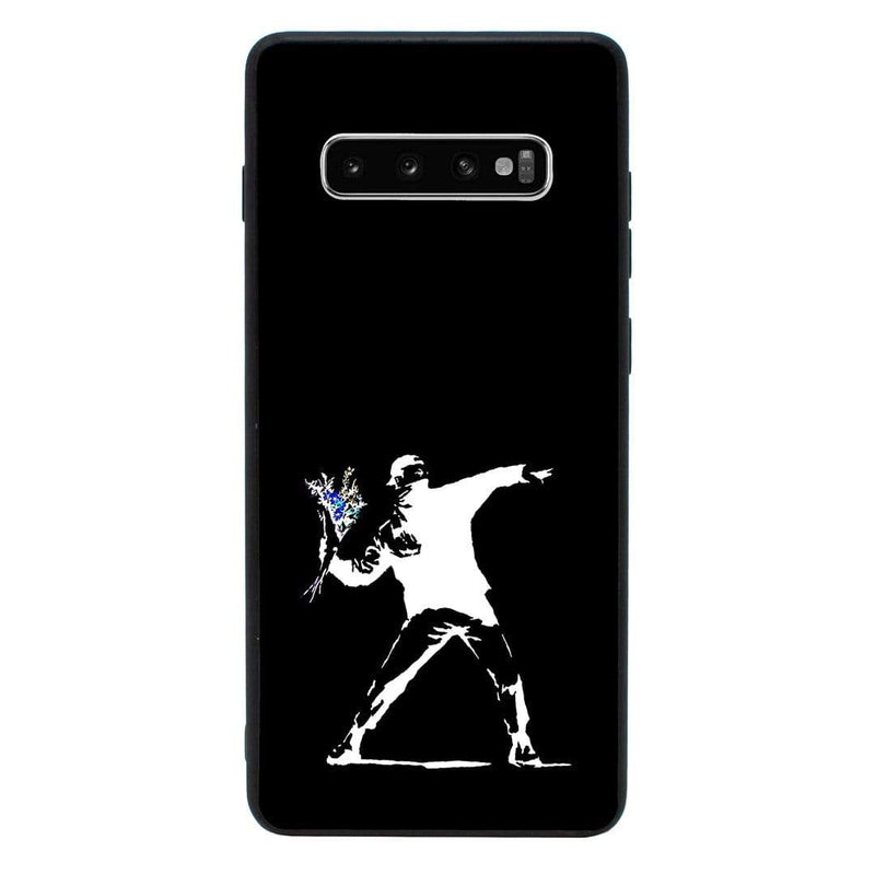 Glass Case Phone Cover for Samsung Galaxy S10E / Banksy I-Choose Ltd