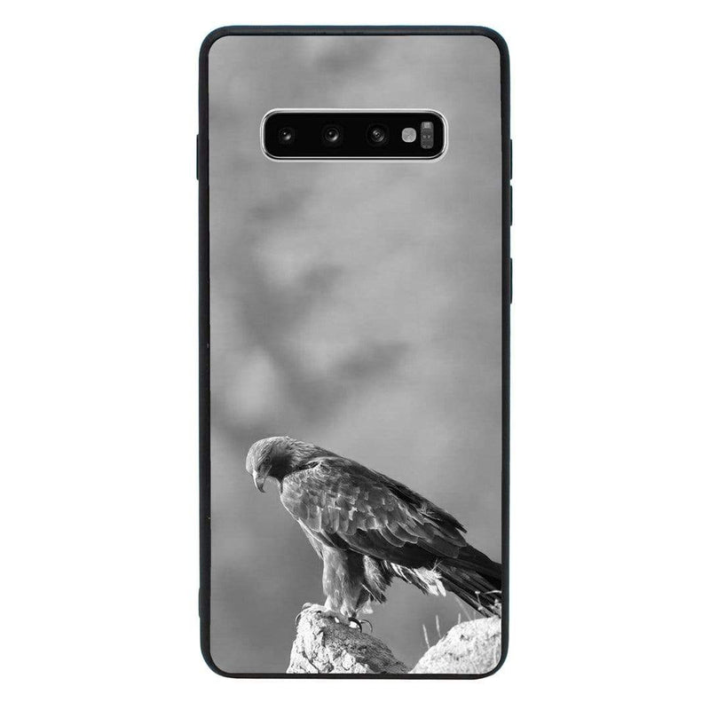 Glass Case Phone Cover for Samsung Galaxy S10E / Black & White Eagle I-Choose Ltd