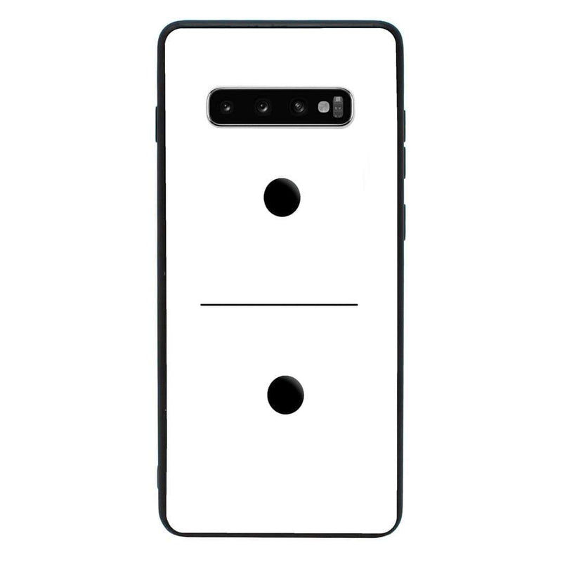 Glass Case Phone Cover for Samsung Galaxy S10E / Dominoes I-Choose Ltd