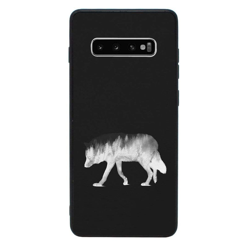 Glass Case Phone Cover for Samsung Galaxy S10E / Double Exposure Animals I-Choose Ltd