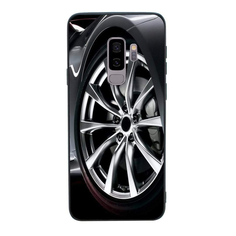 Glass Case Phone Cover for Samsung Galaxy S9 / Alloy Wheel I-Choose Ltd