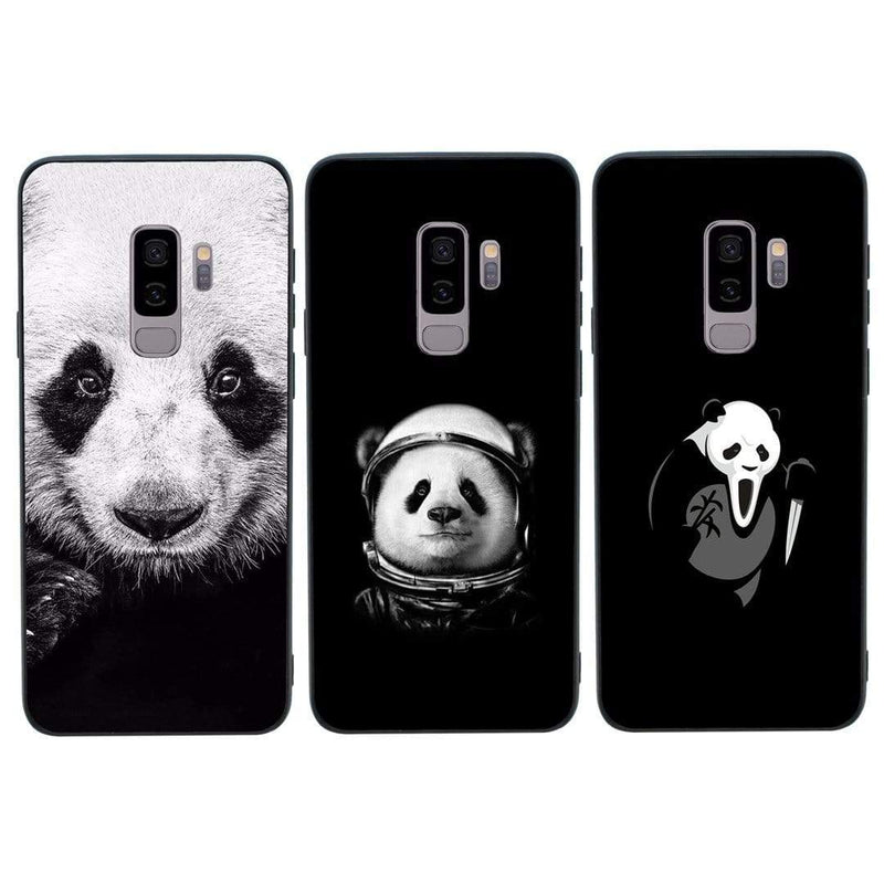 Glass Case Phone Cover for Samsung Galaxy S9 / Black & White Panda I-Choose Ltd