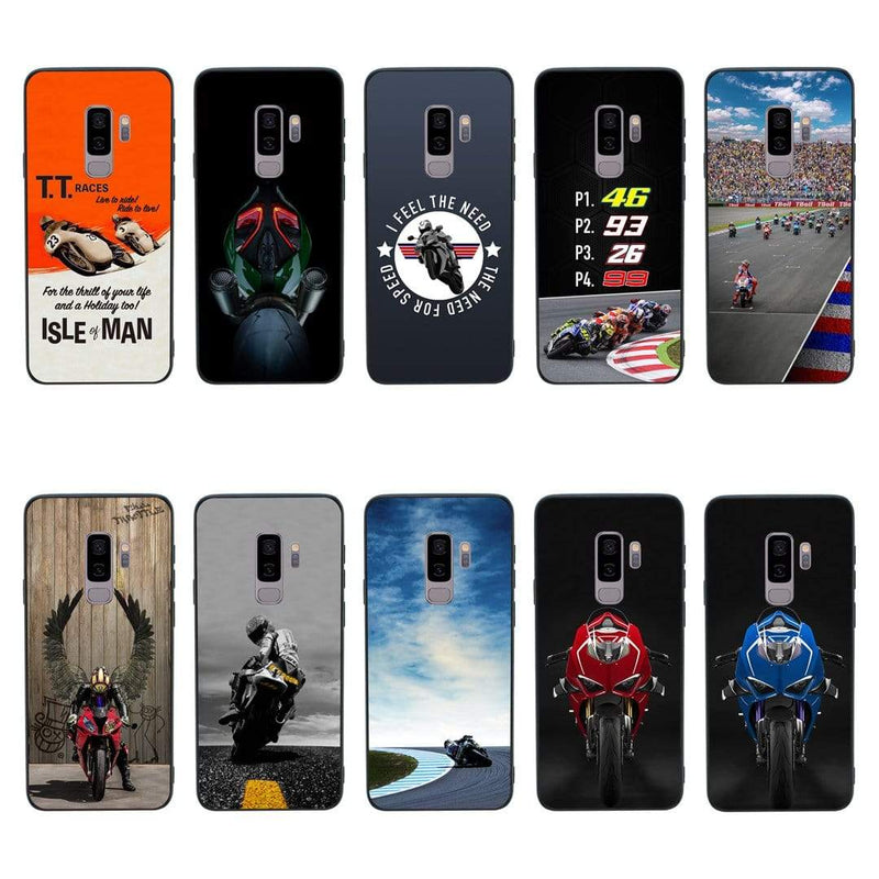 Glass Case Phone Cover for Samsung Galaxy S9 / Superbikes I-Choose Ltd