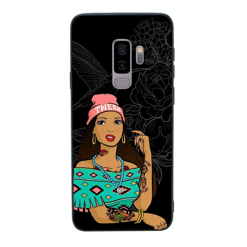 Glass Case Phone Cover for Samsung Galaxy S9 / Tattoo I-Choose Ltd