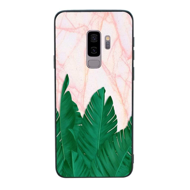 Glass Case Phone Cover for Samsung Galaxy S9 / Tropical Marble I-Choose Ltd