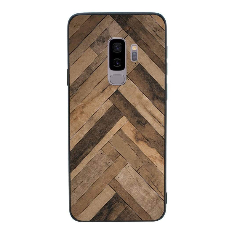 Glass Case Phone Cover for Samsung Galaxy S9 / Wood Effect I-Choose Ltd