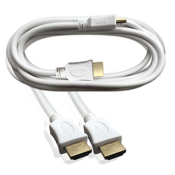 HDMI Lead High Speed with Ethernet 3D 4K Cable White 3M I-Choose Ltd