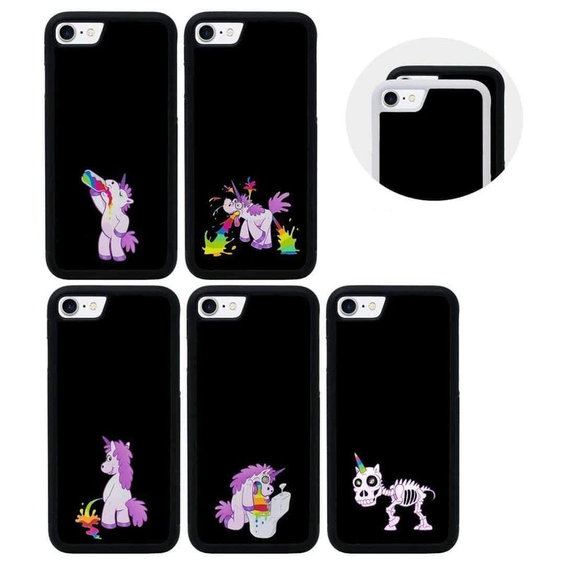 Naughty Unicorn Case Phone Cover for Apple iPhone 7 I-Choose Ltd