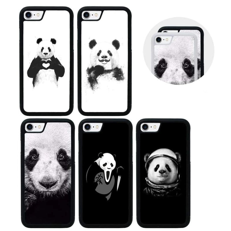 Panda Black and White Case Phone Cover for Apple iPhone 8 I-Choose Ltd