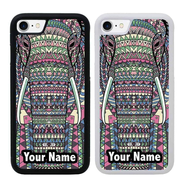 Personalised Aztec Animals Case Phone Cover for Apple iPhone 8 I-Choose Ltd