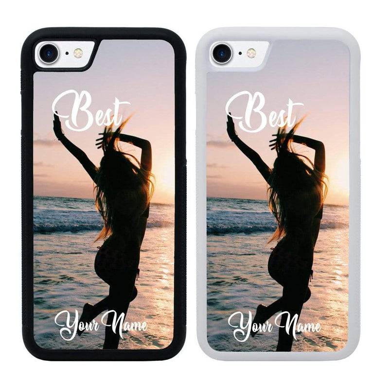 Personalised Best Friends Case Phone Cover for Apple iPhone 8 Plus I-Choose Ltd