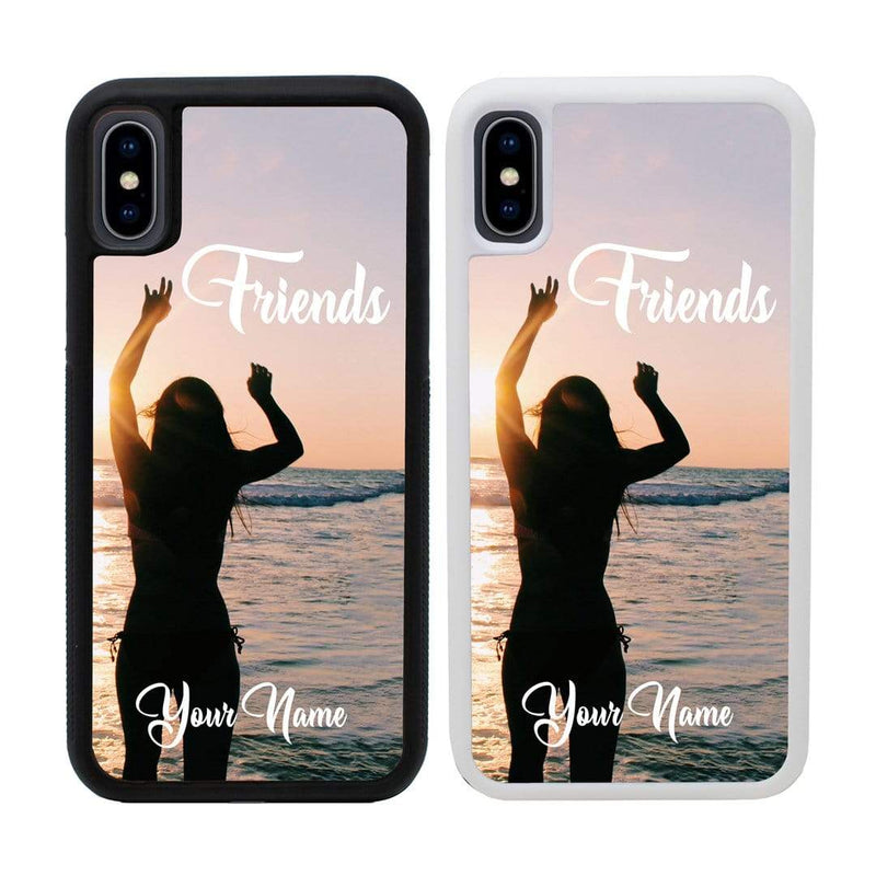 Personalised Best Friends Case Phone Cover for Apple iPhone XR I-Choose Ltd