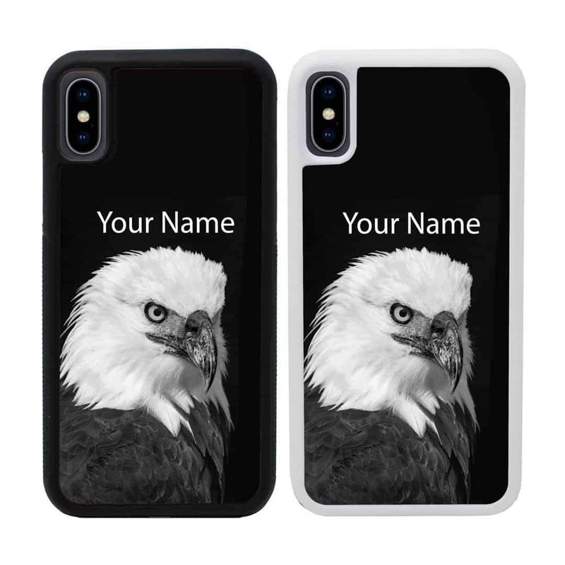 Personalised Black and White Eagle Case Phone Cover for Apple iPhone XS Max I-Choose Ltd