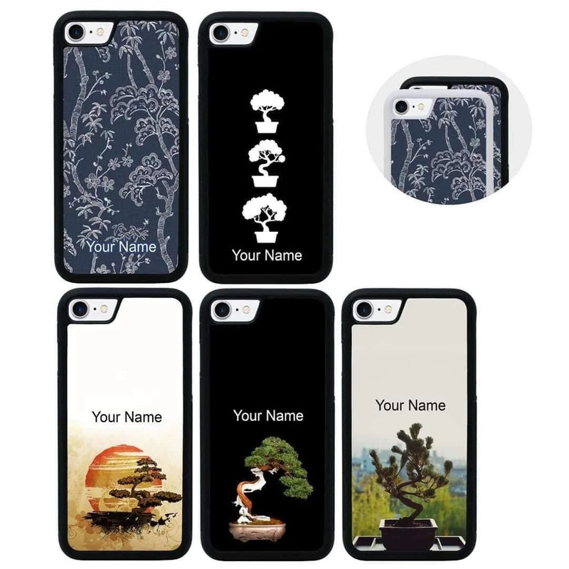Personalised Bonsai Tree Case Phone Cover for Apple iPhone 8 I-Choose Ltd