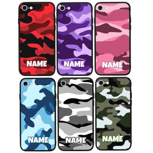 Personalised Camouflage Case Phone Cover for Apple iPhone 8 I-Choose Ltd