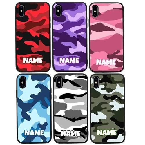 Personalised Camouflage Case Phone Cover for Apple iPhone XR I-Choose Ltd