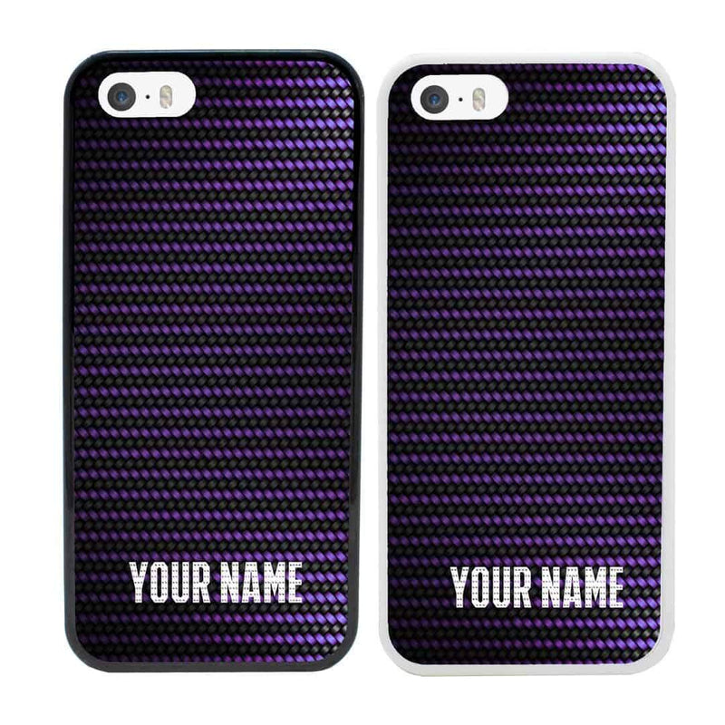Personalised Carbon Fibre Case Phone Cover for Apple iPhone 8 I-Choose Ltd