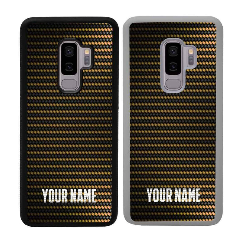 Personalised Carbon Fibre Case Phone Cover for Samsung Galaxy S9 Plus I-Choose Ltd
