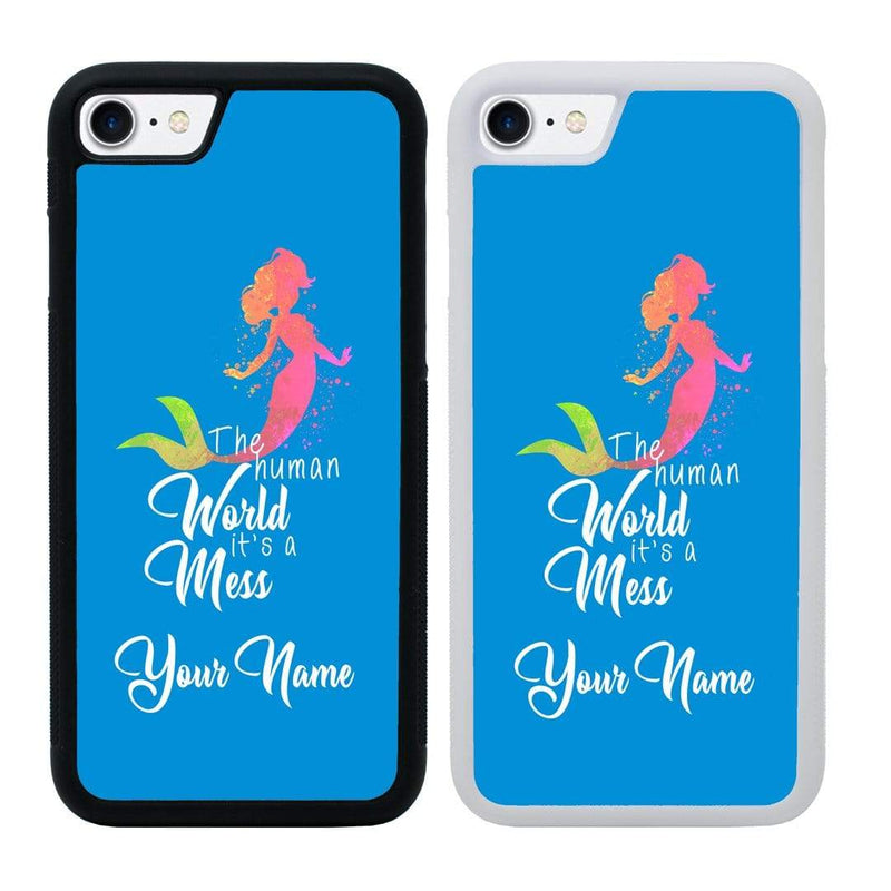 Personalised Mermaids Case Phone Cover for Apple iPhone 8 I-Choose Ltd