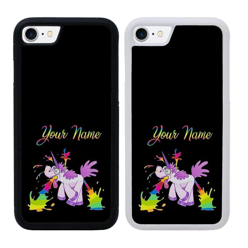 Personalised Naughty Unicorn Case Phone Cover for Apple iPhone 8 I-Choose Ltd
