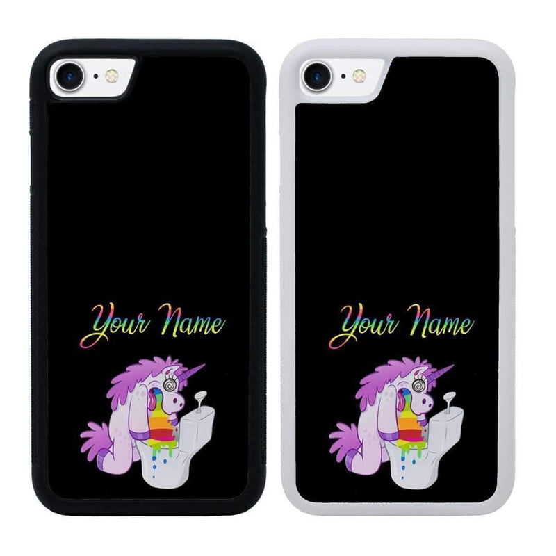 Personalised Naughty Unicorn Case Phone Cover for Apple iPhone 8 Plus I-Choose Ltd