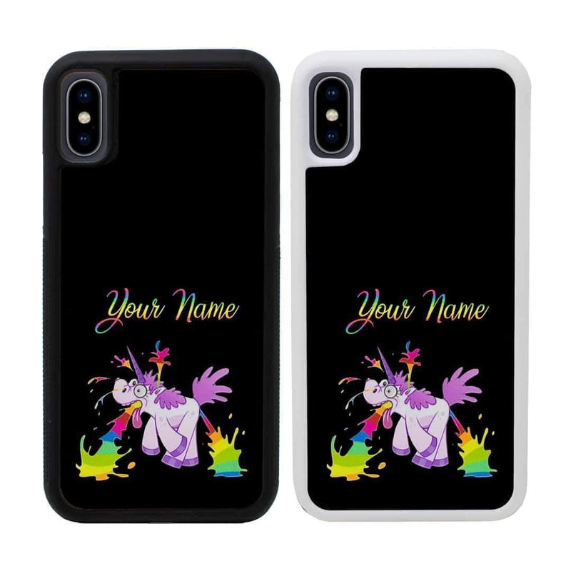 Personalised Naughty Unicorn Case Phone Cover for Apple iPhone X XS 10 I-Choose Ltd