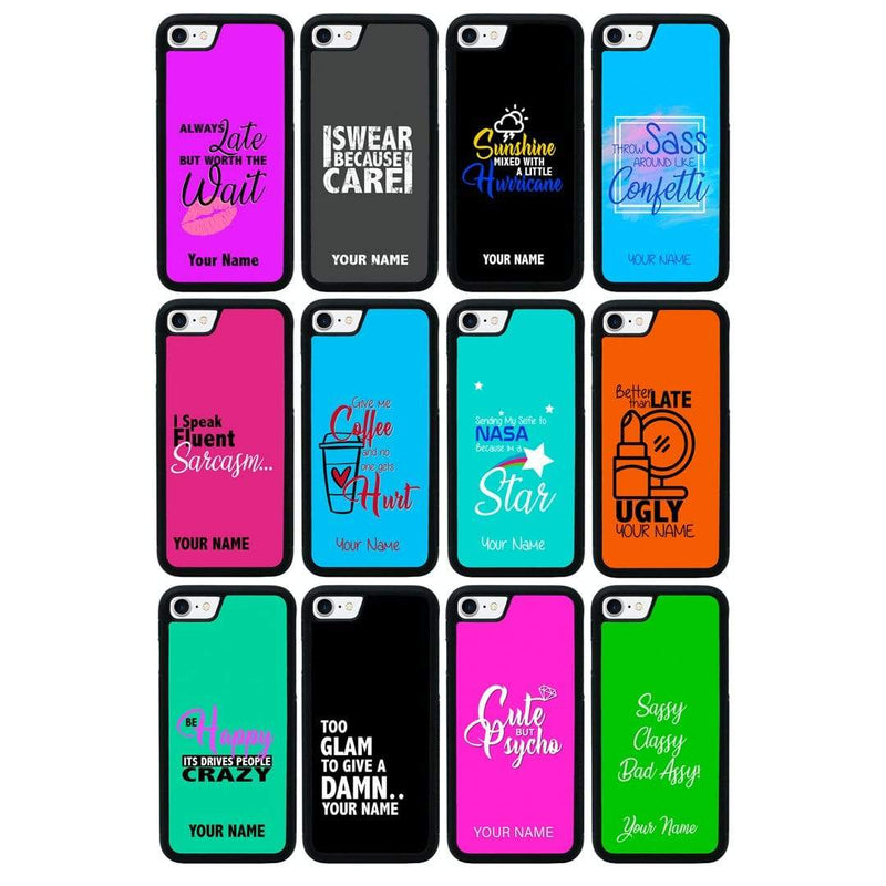 Personalised Sassy Case Phone Cover for Apple iPhone 8 I-Choose Ltd