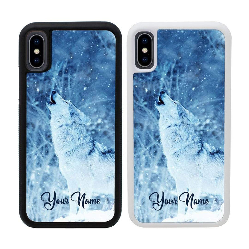 Personalised Wolf Case Phone Cover for Apple iPhone XR I-Choose Ltd